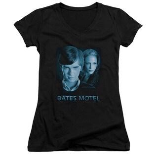 Bates Motel/Apple Tree Junior V-Neck in Black