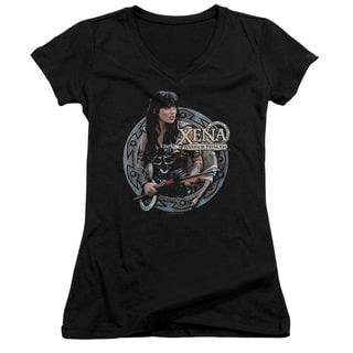 Xena/The Warrior Junior V-Neck in Black