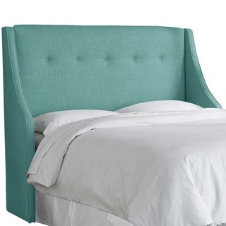 angelo:HOME Laguna Linen/Polyester Button-tufted Wingback Headboard