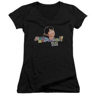 Punky Brewster/Holy Mac A Noli Junior V-Neck in Black