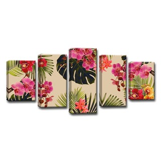 Ready2HangArt 'Coastal Jungle' 5-PC Wrapped Canvas Art Set
