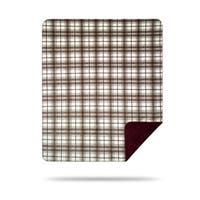 Denali Tartan Plaid Driftwood/Merlot Blanket - 60x50