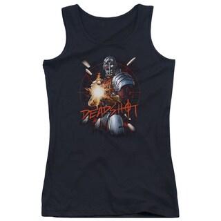 JLA/Deadshot Juniors Tank Top in Black