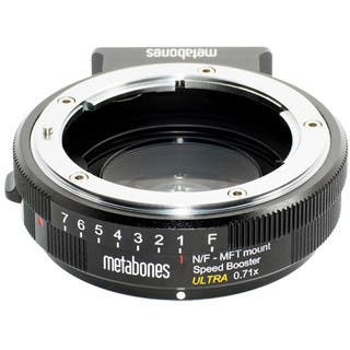 Metabones Speed Booster Ultra 0.71x Adapter for Nikon F-Mount Lens|https://ak1.ostkcdn.com/images/products/11896747/P18791279.jpg?impolicy=medium
