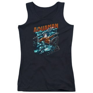 JLA/Aqua Bubbles Juniors Tank Top in Black