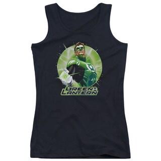 JLA/Green Static Juniors Tank Top in Black