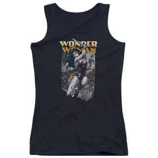 JLA/Wonder Slice Juniors Tank Top in Black