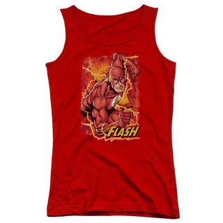 JLA/Flash Lightning Juniors Tank Top in Red