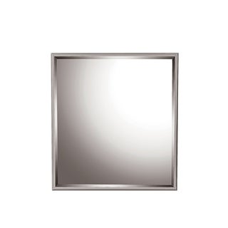 Global Adele High-gloss Grey Zebra Wood Mirror