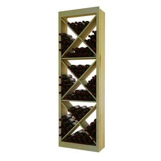NA Traditional Series Wood Diamond Cube Wine Rack