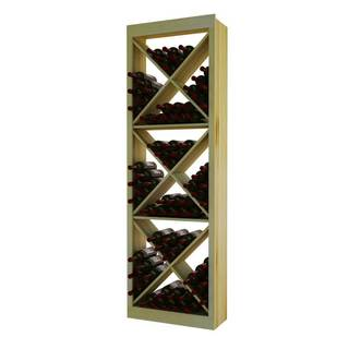 NA Traditional Series Wood Diamond Cube Wine Rack