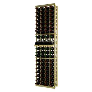 NATraditional Series Brown Wood 4-column Individual Wine Rack with Display Row