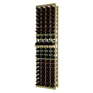 NATraditional Series Brown Wood 4-column Individual Wine Rack with Display Row