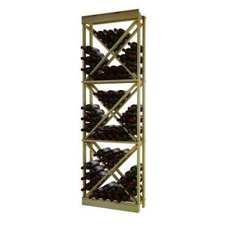 Traditional Series Wood Open Diamond Cube Wine Rack