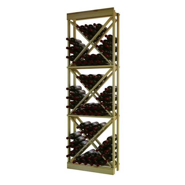 Traditional Series Wood Open Diamond Cube Wine Rack