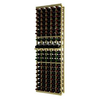 Traditional Series RP-UN-5COLDS Brown Wood 5-column Individual Wine Rack with Display row