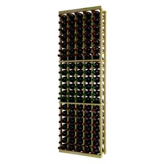 Traditional Series Brown Wood 5 Column Individual Wine Rack