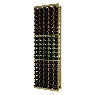 Traditional Series Brown Wood 5 Column Individual Wine Rack