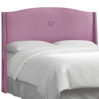 angelo:HOME Purple Fabric Single Button Headboard