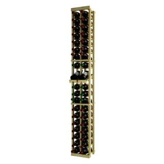 Traditional Series Brown Wood 2-column Individual Wine Rack With Display Row