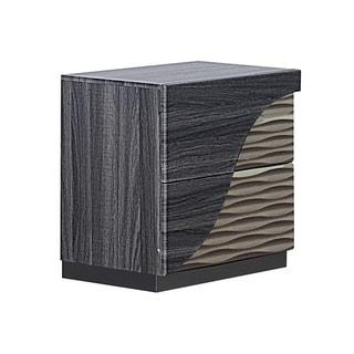 Global Zebra Gold Wood Nightstand
