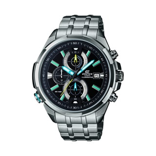 Casio Edifice Ana-Digi ERA500DB-1A Silver Black Rose Gold Stainless Steel Chronograph