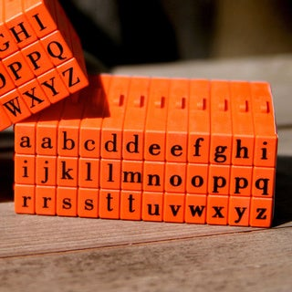 Mason Row Pegz Lowercase Clickable Alphabet Stamp Set