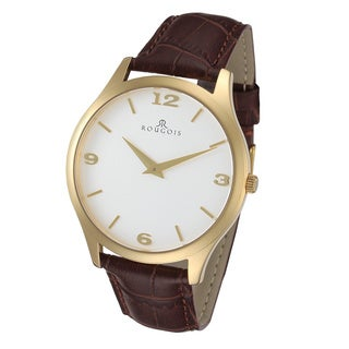 Rougois Gentry Series Men's Goldtone Stainless-steel Watch