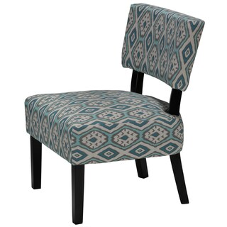 Cortesi Home Largo Diamond Fabric/ Wood Armless Accent Chair