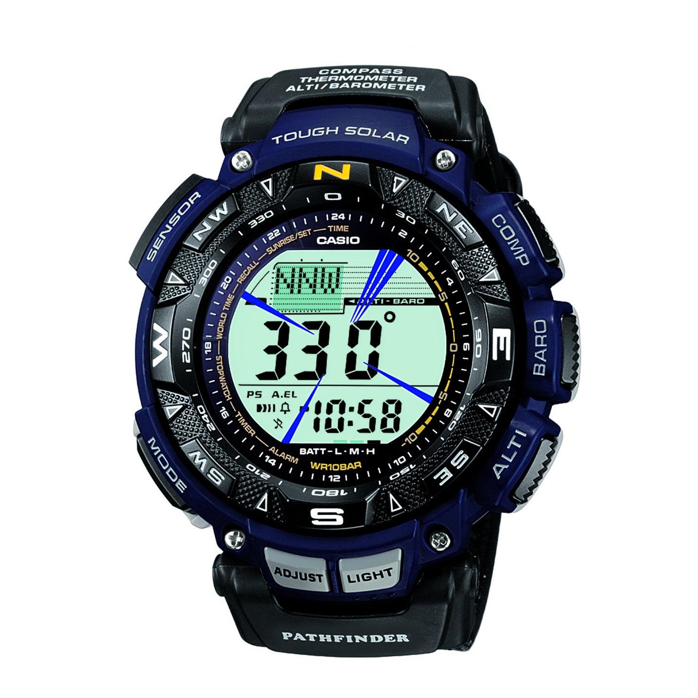 "Casio Men's PAG240B-2CR ""Pathfinder"" Sport Watch with Bla..."