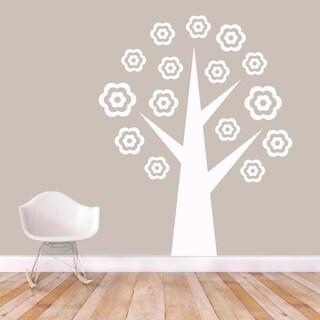 Flower Tree' 58 x 72-inch Vinyl Wall Decal
