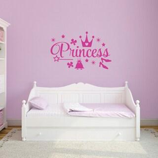 Princess' 48 x 30-inch Vinyl Wall Decal Set