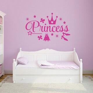 Princess' 60 x 48-inch Vinyl Wall Decal Set