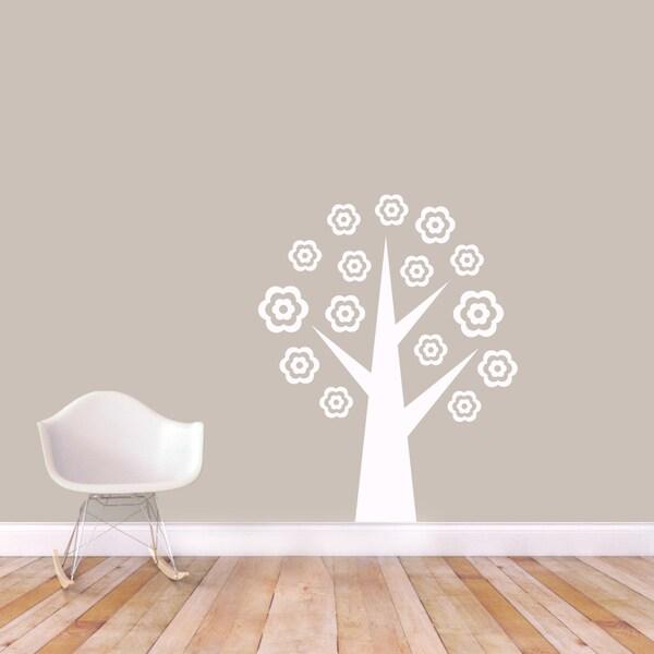 Flower Tree' 38 x 48-inch Vinyl Wall Decal