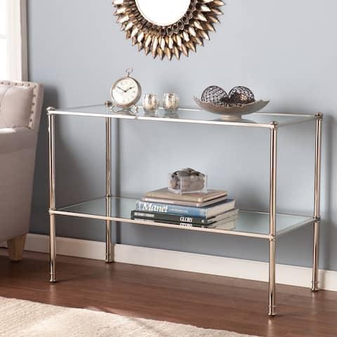 Pullman Silver Metal Sofa/ Console Table