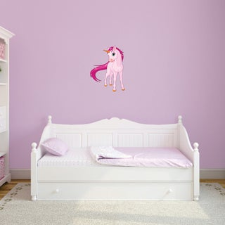 Pink Unicorn Printed Vinyl Wall Decal