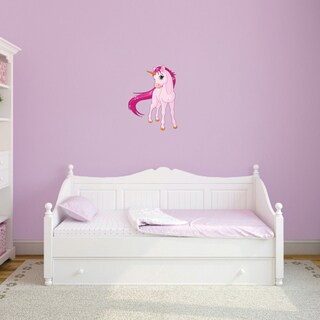 Pink Unicorn Printed Vinyl Wall Decal (3 options available)