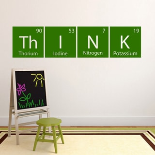 Think Periodic Science Table' 60 x 14.5-inch Wall Decal