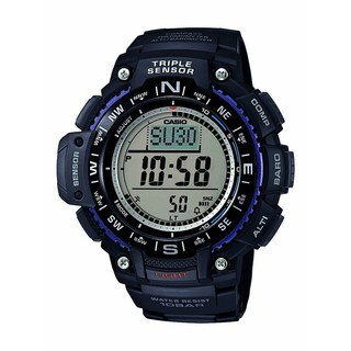 Casio Mens Triple Sensor Digital Display Quartz Black Watch