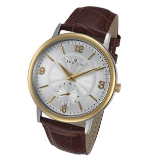 Rougois Lexington Series Stainless Steel Brown Leather Strap Watch