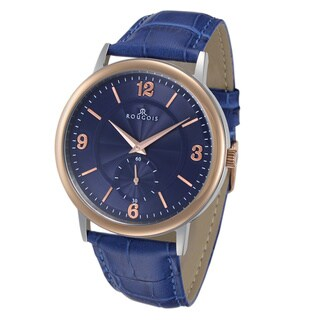 Rougois Men's Lexington Series Blue Dial Stainless Steel Watch
