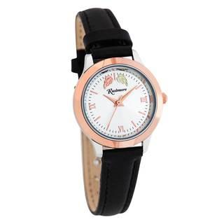 Women's Black Hills Black Leather/Brass/Gold Watch