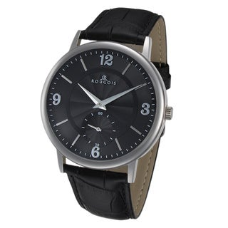 Rougois Lexington Series Black Dial Stainless Steel Watch