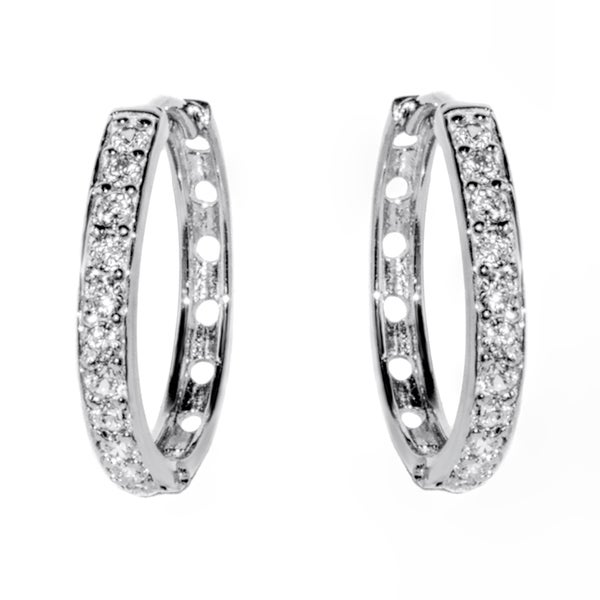 17e03a280 Pori 18-karat Gold-plated or Rhodium-plated Sterling Silver Cubic Zirconia 1