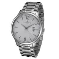 Rougois Madison Series White Textured Dial Stainless Steel Watch