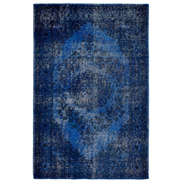 Jal Mahal Blue Wool Area Rug