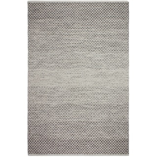 Fab Habitat Recyled Cotton Aurora Grey Rug (2' x 3')