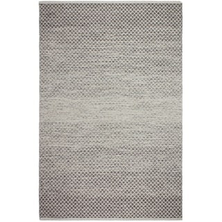 Handmade Fab Habitat Recycled Cotton Aurora Grey Rug (India)