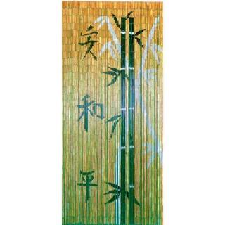 Handmade Chinese Characters with Bamboo Scene Curtain (Vietnam)