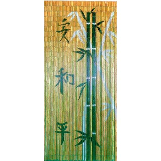 Chinese Characters with Bamboo Scene Curtain (Vietnam)